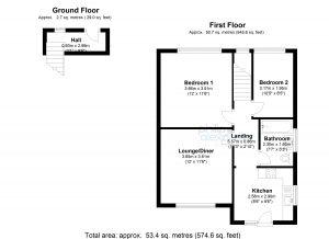 The House Photographer 2D BW Property Floor Plans Estate Agents Floor Plans