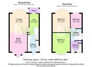 The House Photographer - Property Photography - Floorplan colour Property Floor Plans Estate Agents Floor Plans