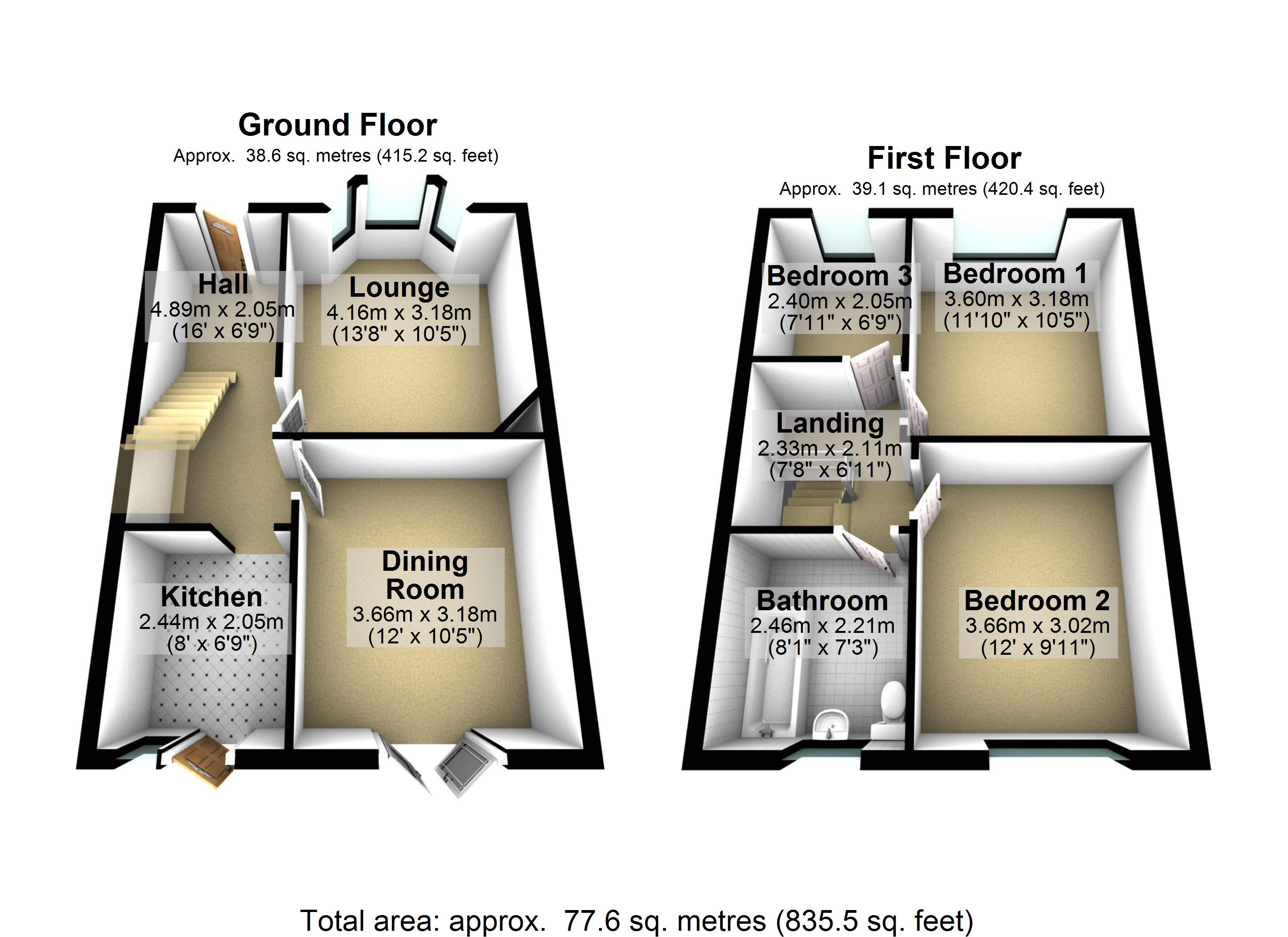 The House Photographer - Property Photography - Floorplan in 3D Property Floor Plans Estate Agents Floor Plans