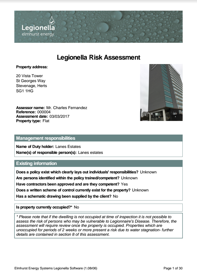 The House Photographer Property Photography - Legionella Risk Assessments